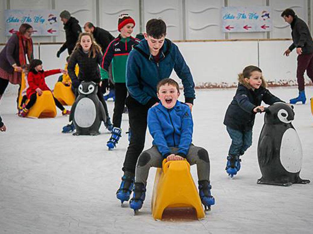 AISHA: Ice skating galway salthill